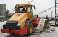 Transportation of construction machinery