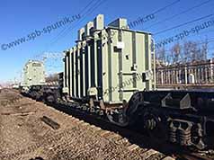 Railway transportation of oversized cargos